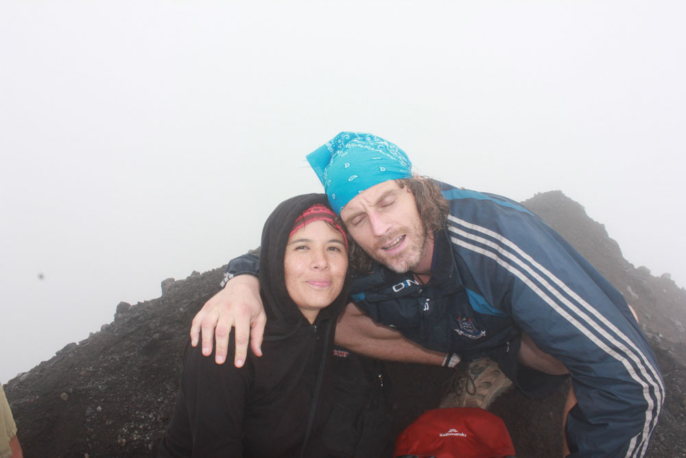 At the top of Volcano Concepcion