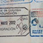 Passport stamp Colombia